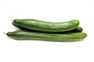 seedless or burp less or English cucumbers used for salad